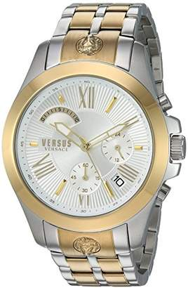 Versus By Versace Men's 'Chrono Lion Extension' Quartz Gold-Tone and Stainless Steel Watch