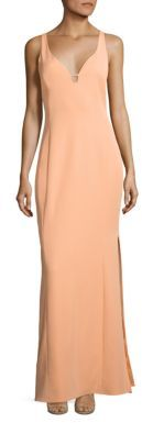 Laundry by Shelli Segal Cutout Stretch Crepe Gown $245 thestylecure.com