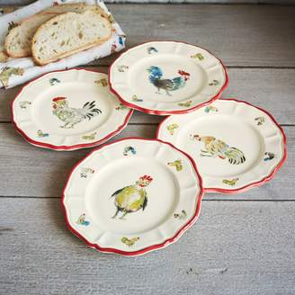Sur La Table Jacques Pepin Collection Chickens Appetizer Plates, Set of 4