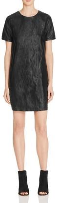 Suncoo Cleo Faux Leather Shift Dress $197 thestylecure.com