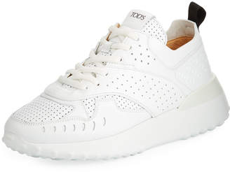 09ccb24490f Tod s Perforated Leather Running Sneakers
