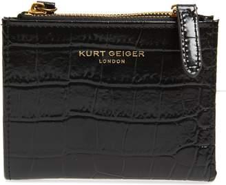 Kurt Geiger London Crocodile Embossed Leather Wallet