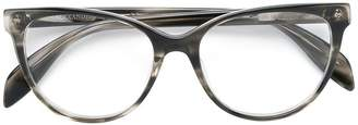 Alexander McQueen Eyewear cat-eyed frame glasses