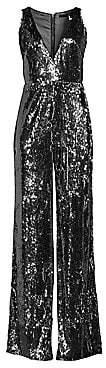 Jay Godfrey Women's Kent Stretch Sequin Jumpsuit - Size 0