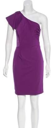 Halston One-Shoulder Ruched Dress