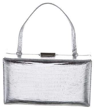 Calvin Klein Collection Metallic Embossed Leather Clutch