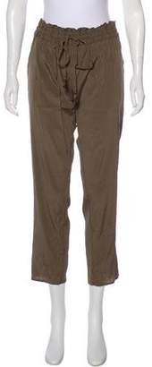 Calypso Silk Mid-Rise Pants