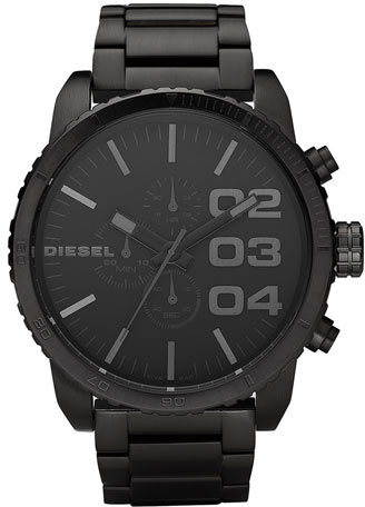 DIESEL ® 'Double Down' Chronograph Bracelet Watch, 51mm