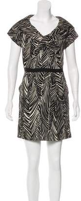 Milly Abstract Print Mini dress