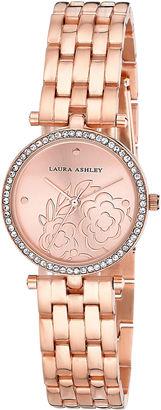 Laura Ashley Womens Rose Goldtone Bracelet Watch-La31021rg $395 thestylecure.com