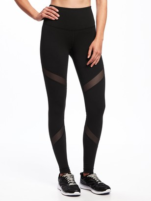 Old Navy High-Waisted Mesh-Panel Elevate Compression Leggings For Women