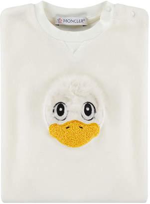 Moncler Duck Face Applique Coverall, Size 3-12 Months