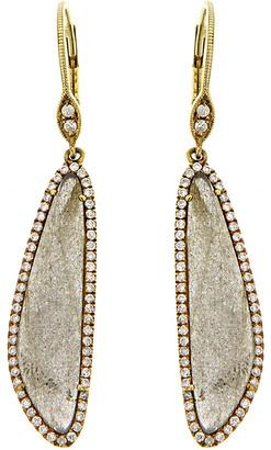 Meira T 14K & Silver 7.05 Ct. Tw. Diamond & Blue Labradorite Earrings