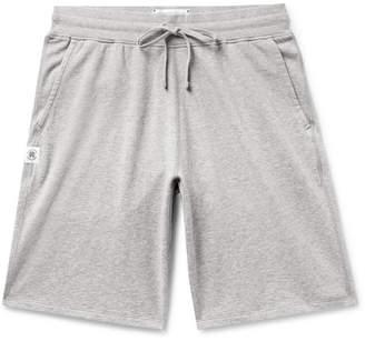 Reigning Champ Mélange Loopback Pima Cotton-jersey Drawstring Shorts - Gray