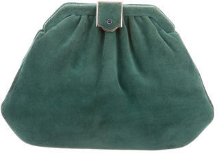 Judith Leiber Suede Pleated Bag $175 thestylecure.com