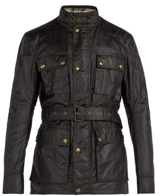 Belstaff Racemaster Waxed Cotton Jacket - Mens - Dark Brown