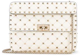 Valentino Medium Rockstud Spike Shoulder Bag in Light Ivory | FWRD