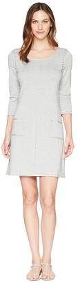 Tribal French Terry Dress with Pockets and Stud Detail Women's Dress