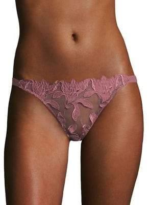 Fleur Du Mal Lily Lace Cheeky Bikini Bottom