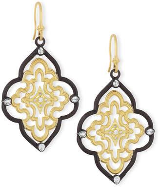 Armenta Old World Scroll Earrings with Diamonds