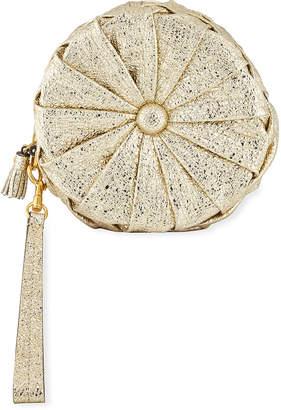 Anya Hindmarch Pillow Layered Metallic Clutch Bag