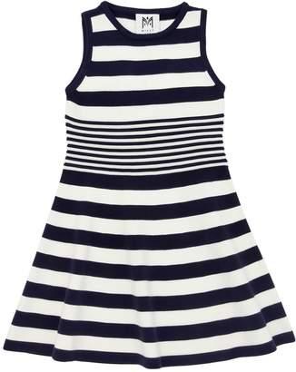 Milly Minis Striped Viscose Blend Knit Ottoman Dress