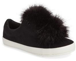 Girl's Sam Edelman Cynthia Leya Faux Fur Pompom Slip-On Sneaker $49 thestylecure.com