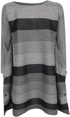 Pleats Please Issey Miyake Striped Tunic Dress