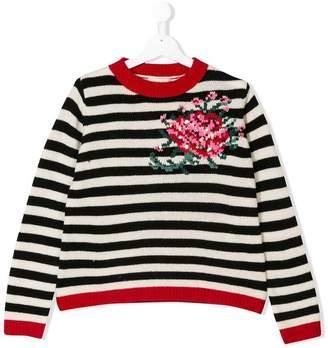 Twin-Set Kids striped knit jumper