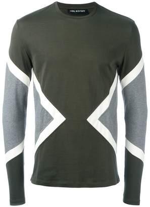 Neil Barrett geometric panelled T-shirt