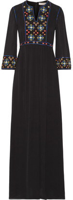 Tory Burch - Jordana Embellished Silk-georgette Maxi Dress - Black $995 thestylecure.com