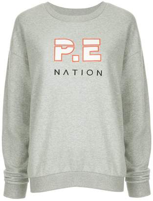 P.E Nation Heads Up printed sweatshirt