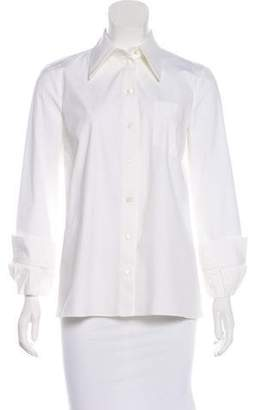 Michael Kors Long Sleeve Button-Up Top