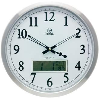 Metal Wall Clock with LCD