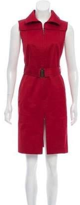 Akris Punto Sleeveless Zip-Up Dress