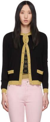 Gucci Black Cashmere Silk Cardigan