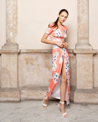 Adriana Iglesias Back Floral Maxi Dress