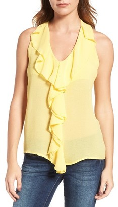 Women's Kut From The Kloth Ruffle Front Top $58 thestylecure.com