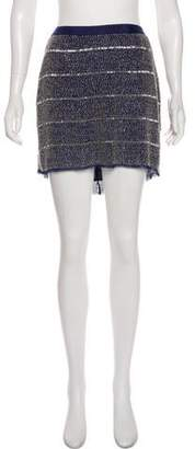 Gryphon Silk Embellished Mini Skirt