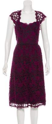 Adrianna Papell Lace Sleeveless Midi Dress