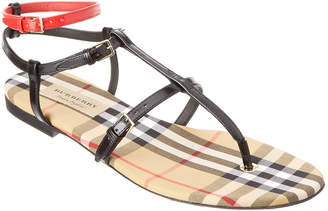 Burberry Vintage Check & Leather Sandal