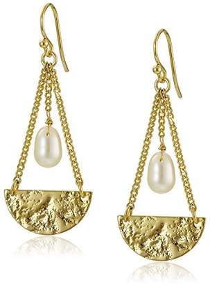 A.V. Max Hammered Gold Drop Earrings