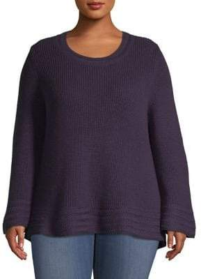 Style&Co. Style & Co. Plus Body Stitch Roundneck Sweater