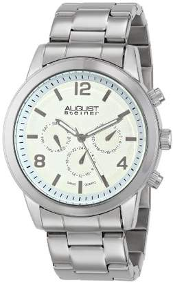 August Steiner Men's AS8098SS Swiss Quartz Multifunction Dial Silver-tone Bracelet Watch