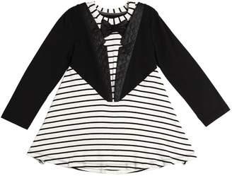 Blend of America Striped Cotton Dress W/ Jacket