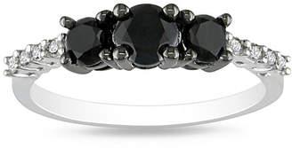 Black Diamond MODERN BRIDE Midnight 1 CT. T.W. Color-Enhanced Three-Stone Ring