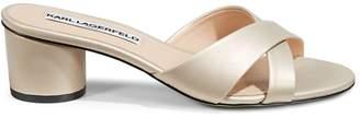 Karl Lagerfeld Paris Crisscross Heeled Sandals