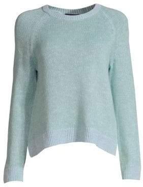 Eileen Fisher Women's Linen-Blend Crewneck Sweater - Blue Ivy - Size XXS