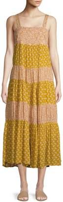 Madewell Colourblock Midi Trapeze Dress