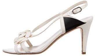 Chanel Camellia Slingback Sandals